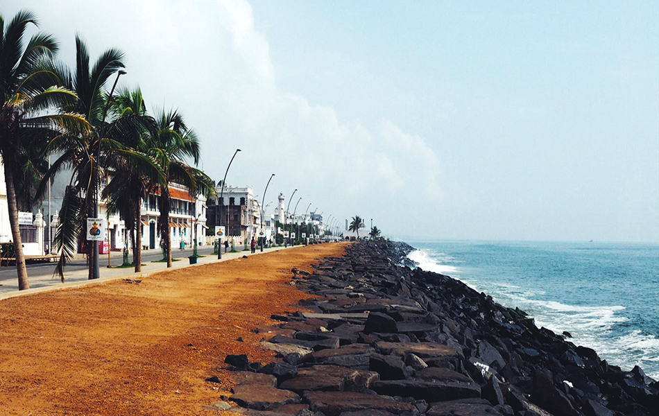 Beach in Pondicherry