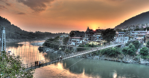 Rishikesh Think of river rafting in North India and Rishikesh is the first name that pops into mind. But a thrilling ride on bumpy waters is not the only thing that this quaint town has to offer. Rishikesh is also home to India's highest bungee jumping podium soaring to an altitude of 83 metres. In case you are yet to experience what it feels like to free fall from tens of feet above ground, then plan an adventure tour to Rishikesh today.