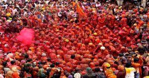 mathura holi celebration