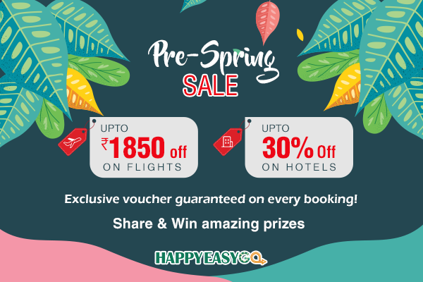 pre spring sale on flight booking happyeasygo