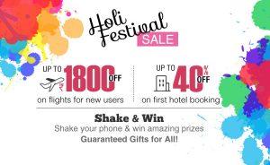 holi festival offers online flight & hotel booking happyeasygo