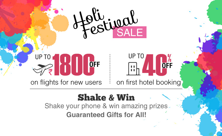 holi festival offers online flight & hotel booking happyeasygo