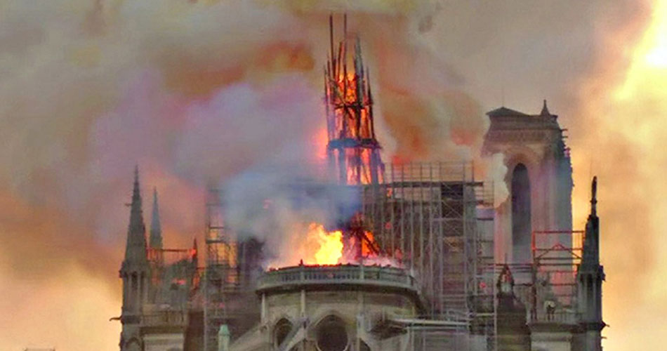 Notre-Dame Cathedral fire in Paris