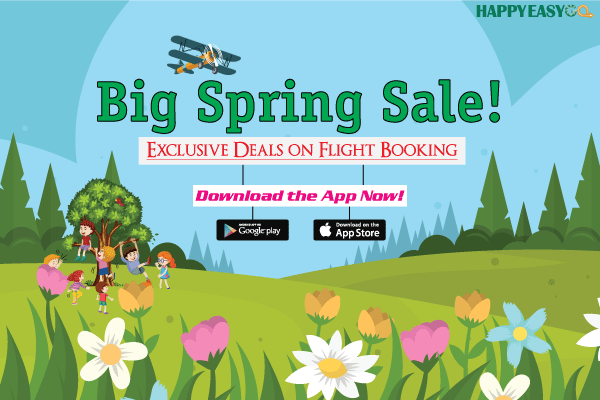 flight booking offers on spring sale