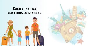 Carry extra clothing and diapers