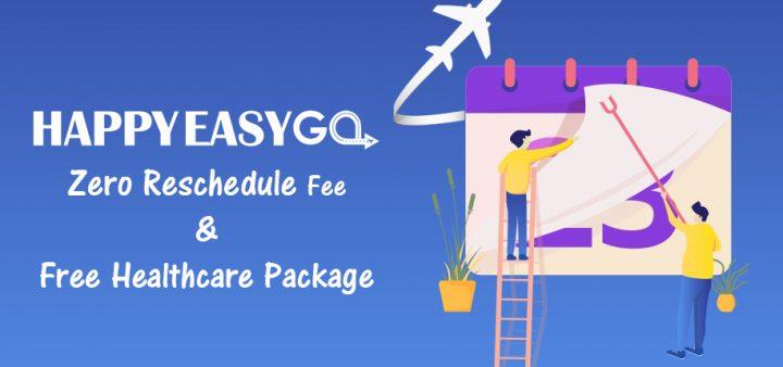 HappyEasyGo offers Zero Reschedule Fee and Free Healthcare Package amidst Coronavirus Outbreak