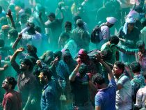 Holi Festival underway in Una district of Himachal