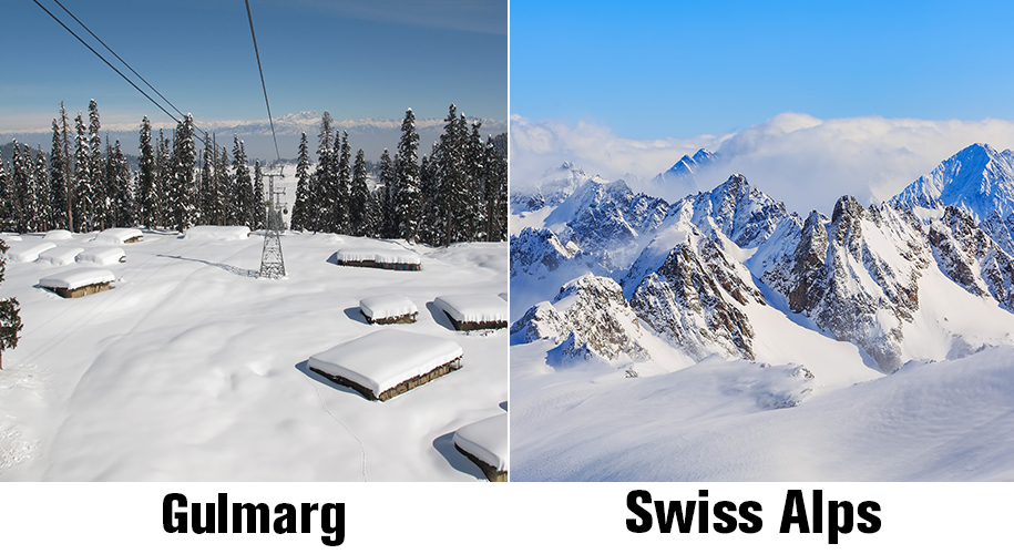 Gulmarg and swiss alps