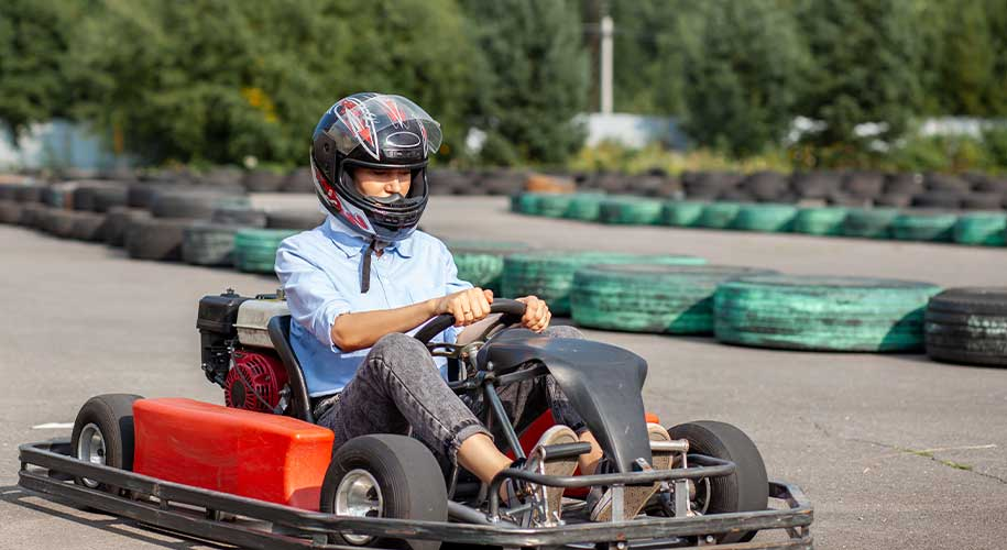 Indulge in thrilling go karting